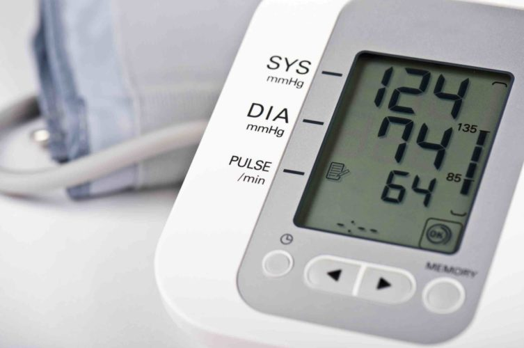 digital blood pressure monitor display