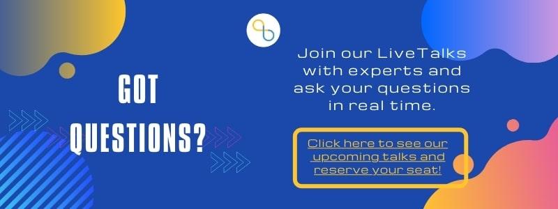 LiveTalks with Experts Banner