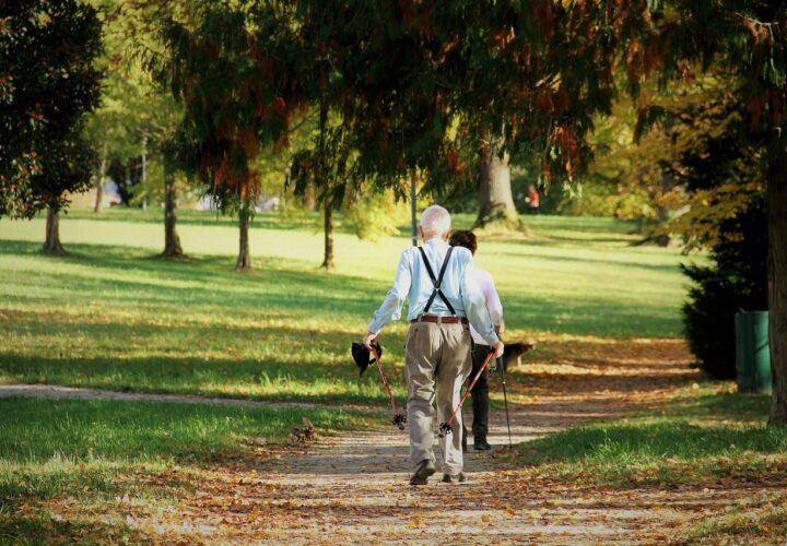 elderly walking for mental health